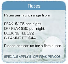 Rates for Clan Ranald Holiday Units - Yorke Peninsula South Australia